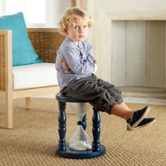 Essentially a giant 5-minute sand timer designed for time outs, the Time Out Timer Stool can't be manipulated