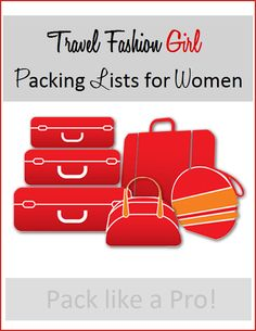 Over 50 international packing lists available to help you to prepare for your next trip - pack like a pro with TFG! http://travelfashiongirl.com/packing-lists/ #travel #packing #lists