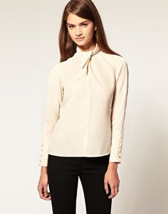 ASOS Blouse with Twist Neck (check out the cuff!)