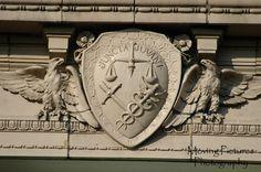 Guilford School Building - detail of seal of Cincinnati