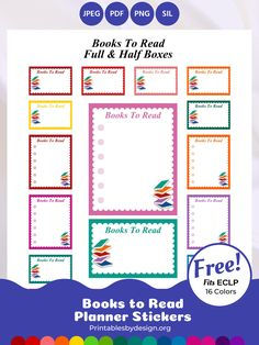 Full Boxes / Checklists – Printables by Design Free Planner, Happy Planner, Printable Planner, Planner Ideas, Printables, Printable Stickers, Planner Stickers, Erin Condren Life Planner, Scrapbook Cards