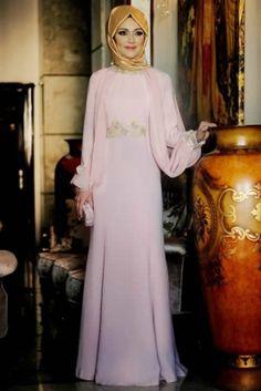 Gamze Polat Pudra Kuğu Güpür Abiye Elbise