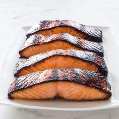 Miso-Marinated Salmon | America's Test Kitchen Salmon Recipes, Fish Recipes, Seafood Recipes, Cooking Recipes, Yummy Recipes, What's Cooking, Kitchen Recipes, Asian Recipes, Cooking