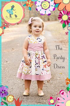 Free Party Dress Pattern – Jessica Hernandez Free Party Dress Pattern Thank you for signing up for The Cottage Mama Newsletter! The Party Dress Free Pattern! We hope you enjoy the very popular FREE pattern for The Part… Sewing Kids Clothes, Sewing For Kids, Baby Sewing, Doll Clothes, Sewing Patterns Free, Free Sewing, Baby Patterns, Free Pattern, Coat Patterns