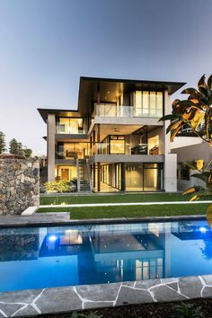 life1nmotion: esigned by Signature Custom Homes, this amazing three-storey residence is situated in Peppermint Grove, Perth, Australia.