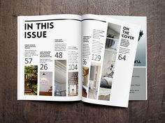 Magazine Cover & Table of Contents on Behance                                                                                                                                                                                 More