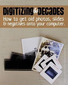 Have you got old photos, negatives or slides that you'd love to have put on your computer? We'll show you how to do it yourself using a few special tools… and even your cell phone! Don't let old photos or negatives degrade any longer. With some basic computer skills you can save those memories for posterity!