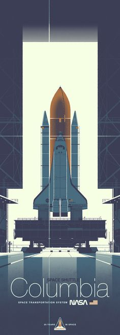 "Kevin Dart ""Space Shuttle Columbia"" Framed Print"