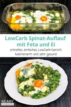 Points Weight Watchers, Law Carb, Spinach Casserole, Spinach Bake, Queso Feta, Calorie Diet, Meal Planning, Veggies, Food And Drink