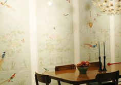 love this hand painted Chinese wall paper...
