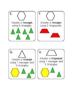 CREATING SHAPES: FIRST GRADE MATH - TeachersPayTeachers.com