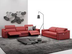 Genießen Sie auf dem 3-Sitzer Ledersofa Macello besonderen Sitzkomfort. Das Sofa mit Relaxfunktion überzeugt durch italienisches Design.