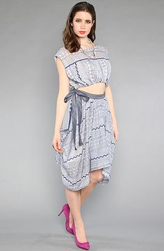 The Geo Embroidered Cutout Dress by Free People at karmaloop.com