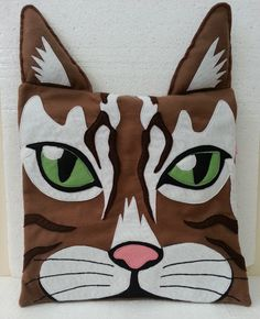 Handmade Cat Caricature Pillow Cover | #pets #plush #gift #toy #doll #roomdecor #homedecor | http://www.rbitencourtusa.com/#!product/prd1/3473119401/handmade-cat-caricature-pillow-cover