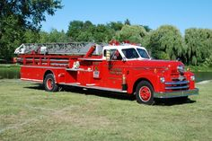 Frankenmuth, Michigan annual antique fire truck muster the last Saturday in July