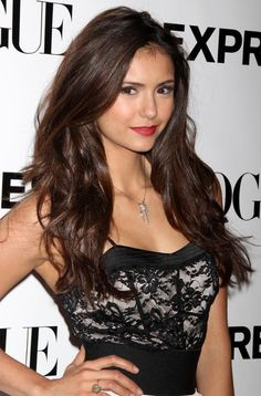 Welcome to one of the most updated sources dedicated entirely to the Canadian actress Nina Dobrev, who is currently starring as Elena Gilbert in The Vampire Diaries. Nina Dobrev Hair Color, Nina Dobrev Style, Hair Styles 2014, Long Hair Styles, Nina Dovrev, Sublime Creature, Long Curls, Brown Hair Colors, Hair Colour