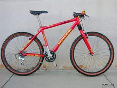 """Cannondale (My 2nd REAL Mountain Bike was a Cannondale """"Volvo"""" F700 - pictured)"""