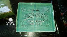 Ouija Board Ceramic Tray Green by SatanicCeramics on Etsy