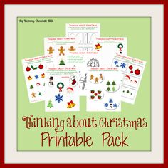 Hey Mommy, Chocolate Milk: Thinking about Christmas - Printables