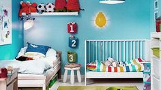Shared Boys Room for Toddler and Baby