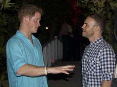 Gary Barlow with prince Harry
