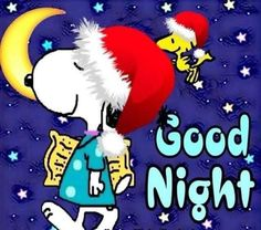 Good Night All, Good Night Wishes, Good Night Sweet Dreams, Good Night Moon, Peanuts Christmas, Charlie Brown Christmas, Charlie Brown And Snoopy, Christmas Art, Vintage Christmas