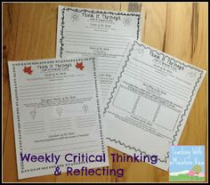 Teaching With a Mountain View: Increasing Critical Thinking Critical Thinking Test, Creative Thinking Skills, Critical Thinking Activities, Life Skills Activities, Word Challenge, Gifted Education, Study Skills, Academic Writing, Teaching Reading