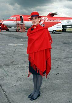 Best Airline Uniform in the Hemisphere: Avianca Airline Uniforms, Best Airlines, Cabin Crew, Air Travel, Flight Attendant, Female, Latin America, Dream Job, Leather Gloves