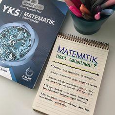 Matematik nasıl çalışılmalı?☺️ . Kitap: @palmeyayinevi Sentez Serisi YKS Matematik Soru Kitabı (Orta Seviye) ÖNERİMDİR . . #yks2018 #yks #2018tayfa #2019tayfa School Notes, School Hacks, Study Motivation, Girls Life, Study Tips, College Students, Stationery, How To Plan, Education