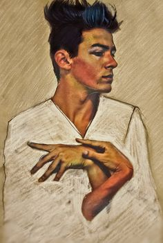 Self Portrait with Hands on Chest - Egon Schiele   I'm absolutely obsessed with this.