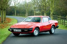 1974-1981 TRIUMPH TR7  Reg No: ?  Colour: Blue with black vinyl roof. Owned by: Adrian Evans around 1990.
