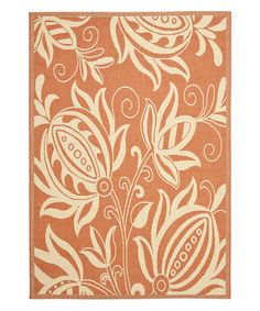 Look what I found on #zulily! Terracotta & Natural Keaton Indoor/Outdoor Rug #zulilyfinds