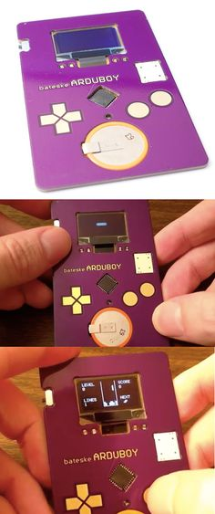 Cool Gameboy Style Tetris Playing Business Card