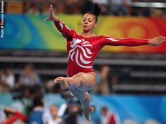 Becky Downie (Great Britain) on balance beam at the 2008 Beijing Olympics