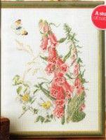 "Gallery.ru / BelleBlue - Альбом ""Цветы 4"" Pink And Blue Flowers, Pink Blue, Japanese Stamp, Art Carte, Cross Stitch Rose, Flora, Bunny, Greeting Cards, Easter"