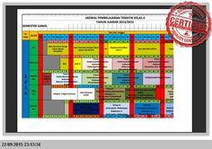[File Pendidikan] CONTOH JADWAL PEMBELAJARAN KELAS 1 2 4 5 KURIKULUM 2013 MICROSOFT EXCEL
