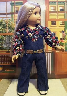 Belted overalls and flowered shirt for Julie  1974 by Keepersdollyduds, via Flickr