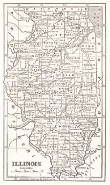 Illinois Map Old Maps Pinterest Craft And Etsy - United states map illinois