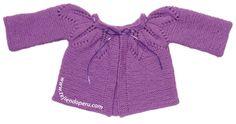 Tutorial: ropón o chaqueta para bebe con cuello canesú de hojas caladas!