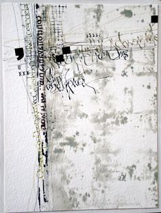 Mixed Media Textile Art, Artist Study with thanks to Textile artist Stéphanie Devaux Textus Art Doodle, Writing Art, Black White Art, Mix Media, Letter Art, Mixed Media Collage, Mark Making, Textile Artists, Calligraphy Art