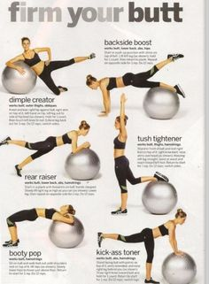 Get A Tight Butt With Just Using A Yoga Ball