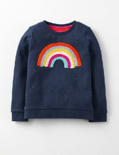 Mini Boden Detailed Sweatshirt Navy Marl Rainbow Girls It doesnt matter how chilly it gets, this sweatshirts fuzzy inside will keep you toasty and warm. The colourful bouclé embroidery will bring a smile to your face, while the supersoft cotton fabric wi http://www.MightGet.com/january-2017-13/mini-boden-detailed-sweatshirt-navy-marl-rainbow-girls.asp