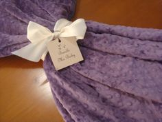NEW!! Violet Purple double sided minky throw blanket & bedding  By: Bundle Me Baby