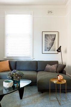 Love those bronze in the serinity of grey and neutral  DarlinghurstApartment - desire to inspire - desiretoinspire.net