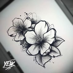 32 Amazing Tattoo Ideas For Women - Page 16 of 30 - Tattoo Designs Rose Tattoos, Flower Tattoos, Black Tattoos, New Tattoos, Floral Skull Tattoos, Dragon Tattoo For Women, Tattoos For Women, Tattoo Sketches, Tattoo Drawings