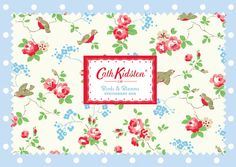 Cath Kidston  #Stationary  #Kidston #Design #Pattern #Floral #Dots #Wallpaper #Journal
