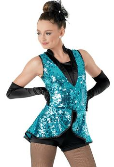Ultra Sparkle Vest with Biketard Dance Recital Costumes, Cute Dance Costumes, Tap Costumes, Halloween Costumes For Girls, Ice Skating Dresses, Ballet, Cutaway, Dance Wear, Tap Dance