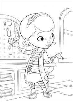 Målarbilder | Färgläggningsbilder för barn Doc McStuffins 5