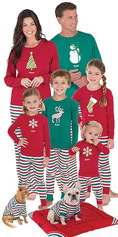 Holiday Stripe Matching Family Pajamas