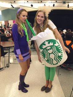 Homemade Starbucks costume!! Great for homecoming week!